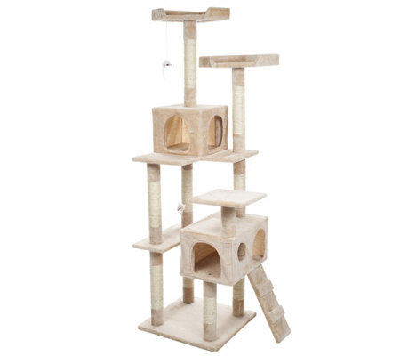 "Petmaker 5'6"" Skyscraper Sleep and Play Cat Tree"