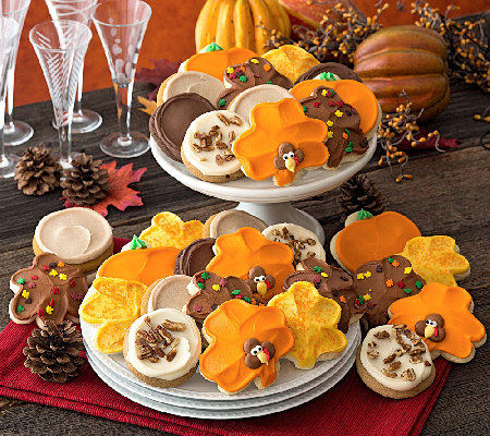 Ships 11/1 Cheryl's Thanksgiving ButtercreamCookies 24 pcs