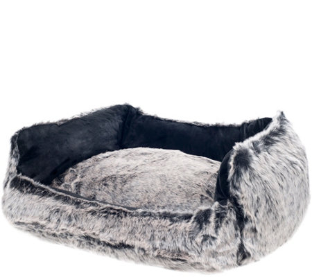 PETMAKER Faux Fur Dog Bed Large