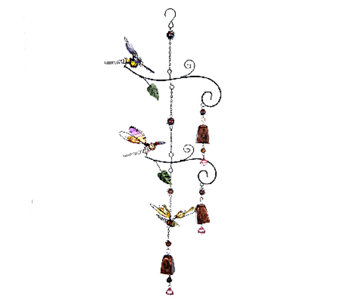 Cascading Windchime Bells with Fluttering Friends - M43137