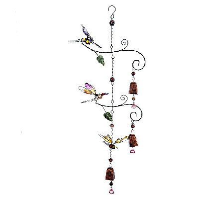 Cascading Windchime Bells with Fluttering Friends