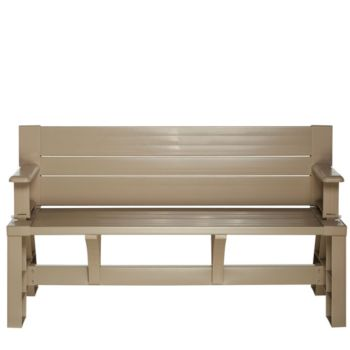 Convert-A-Bench Basic Color Outdoor 2-in-1 Bench-to-Table w/5 Year LMW