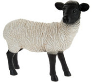 Ships 1/25 Plow & Hearth Resin Suffolk Sheep Garden Statue