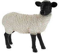 Plow & Hearth Resin Suffolk Sheep Garden Statue - M52337