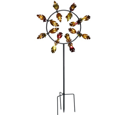 Plow & Hearth 5' Leaves Jubilee Wind Spinner