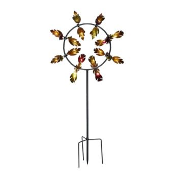 Plow & Hearth 5' Fall Leaves Jubilee Wind Spinner