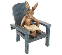 Plow & Hearth Reading Animals in Adirondack Chair - M55538