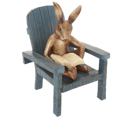 Plow & Hearth Reading Animals in Adirondack Chair