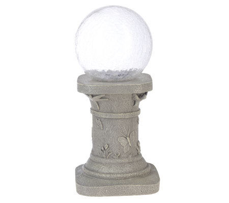 Smart Solar Crackled Glass Color Changing Gazing Ball with Stand