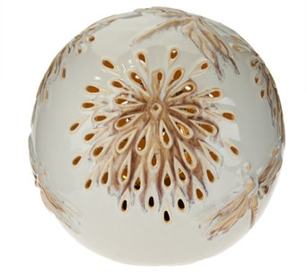 Decorative LED Light Up Ceramic Orb by Evergreen - M49239