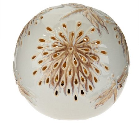 Decorative LED Light Up Ceramic Orb by Evergreen
