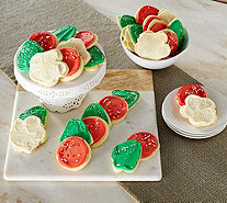 Cheryl's 30 Piece Holiday Frosted Cutout Cookies - M52239