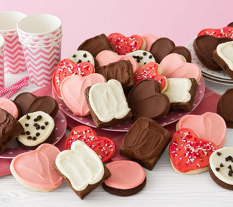 Cheryl's 24 Valentine Frosted Cookies and 8 Frosted Brownies - M115140
