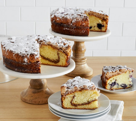 Jimmy the Baker (2) Cinnamon or Blueberry Crumb Cakes Auto-Delivery