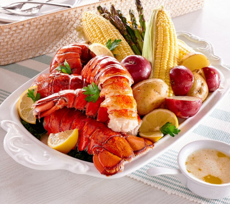 Greenhead Lobster (16) 5-6 oz. Lobster Tails & 1 lb. of Butter