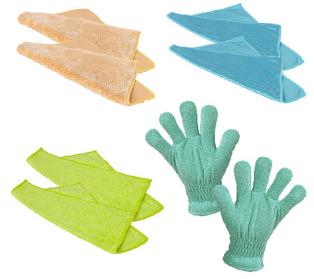 Casabella Microfiber Cleaning Cloth And Windowblind Glove