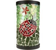 Plow & Hearth Solar Mosaic Glass Lantern