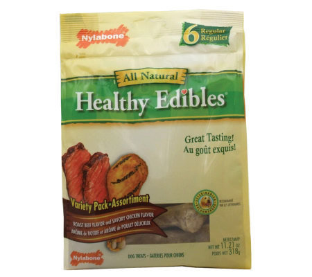 Healthy Edibles Variety 6 Pack - Regular Dog Treats