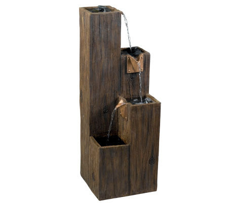 Kenroy Home Timber Indoor/Outdoor Floor Fountain