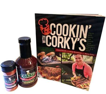 SHS 8/29 Cookin' With Corky's Cookbook, BBQ Sauce & Dry Rub