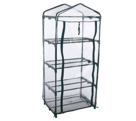 Indoor/Outdoor 4-Shelf Portable Greenhouse