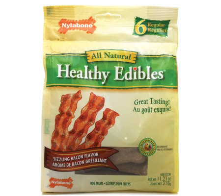 Healthy Edibles Bacon Regular - 6 Pack Dog Treats