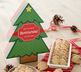 10/31 Cheryl's Butter Shortbread Tree Shaped Cookies - M115344
