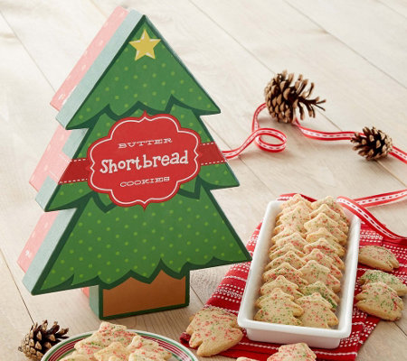 Cheryl's Butter Shortbread Tree Shaped Cookies