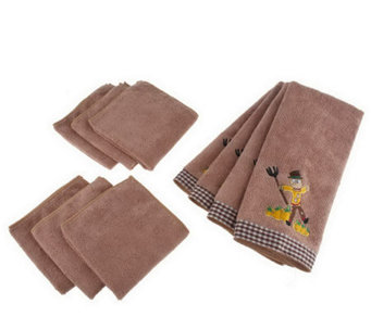 Don Aslett's 10-Piece Microfiber Kitchen Toweland Cloth Set - M113545