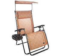 Bliss Hammocks Deluxe XL Gravity Free Recliner with Canopy & Tray - M45745