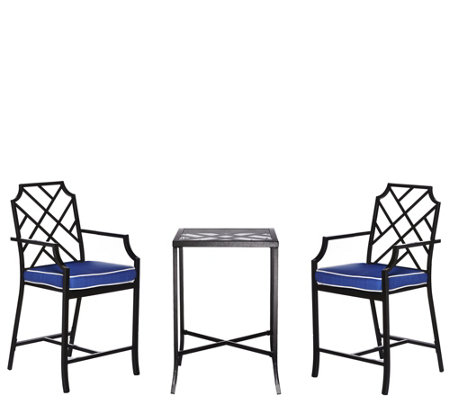 scott living 3piece high top bistro patio set