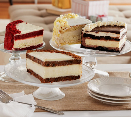 Ships 11/7 Junior's 6lb. Layer Cake and Cheesecake Sampler