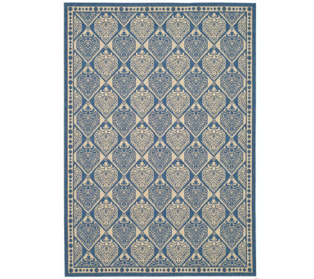 "Safavieh Courtyard Teardrop 7'10"" x 11' Rug with Sisal Weave"