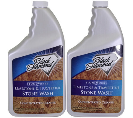 Black Diamond Limestone & Travertine Stone Wash
