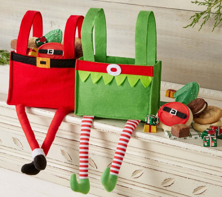 10/31 Cheryl's Elf and Santa Gift Bag - Set of2