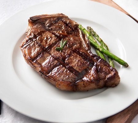 Rastelli Market Black Angus Bone-In NY Strip Steaks 4/12 oz