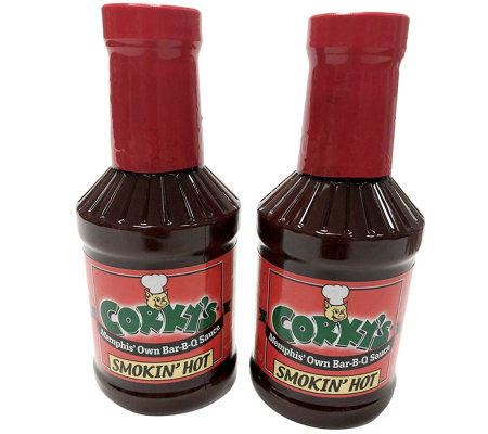 Corky's BBQ (2) Bottles of Hot BBQ Sauce