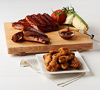 Corky's BBQ 4 lb. Ribs with Choice of Seasoned Roasted Wings - M54746