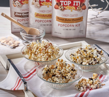 Maggie & Mary's 6 Pack of Pop It-Top It Popcorn Assortment