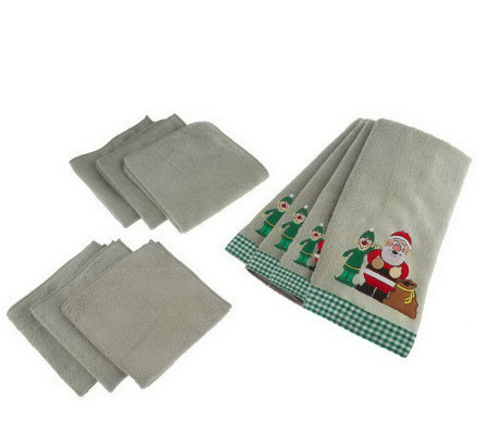 Don Aslett's Microfiber Kitchen Towel and ClothSet - 10-Pc