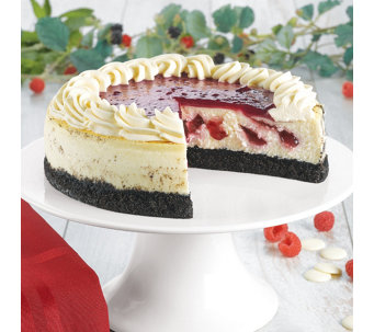 Junior's White Chocolate Raspberry Cheesecake - M115647