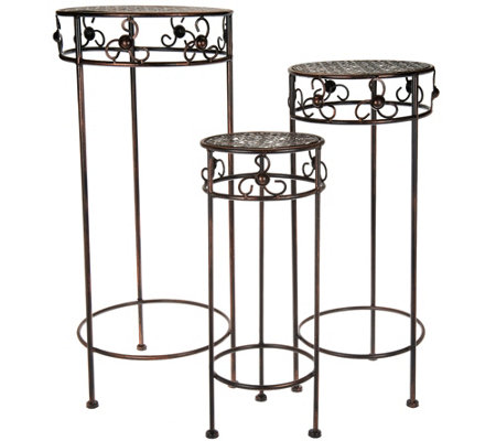 Beautiful Barbara King Set Of 3 Wrought Iron Nesting Tables