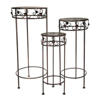 Barbara King Set of 3 Wrought Iron Nesting Tables