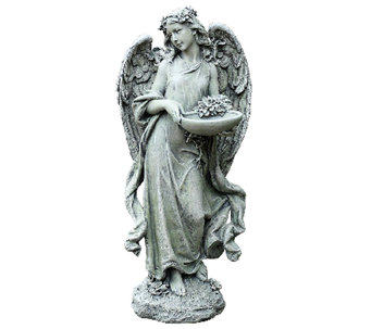 "Joseph's Studio 15-3/4"" Angel w/ Bowl Bird Feeder by Roman - M114549"
