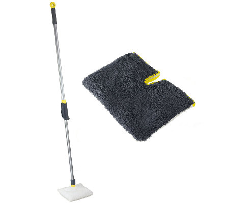 Casabella Height-Adjustable Bath Scrubber withRefill Head