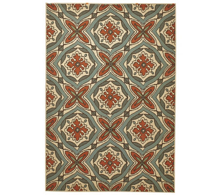 Scott Living 5x7 Medallion Design Indoor/Outdoor Rug