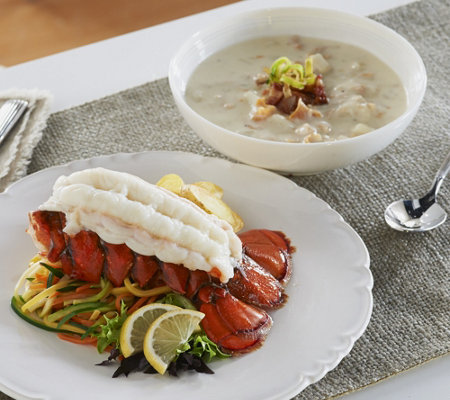 Lobster Gram (12) 5-6 oz. Tails w. Choice of (6) 18 oz. Chowder/ Bisque