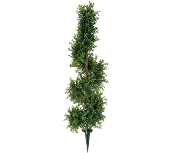 "English Gardens 30"" Spiral Boxwood Topiary with 6"" Stake - M53149"