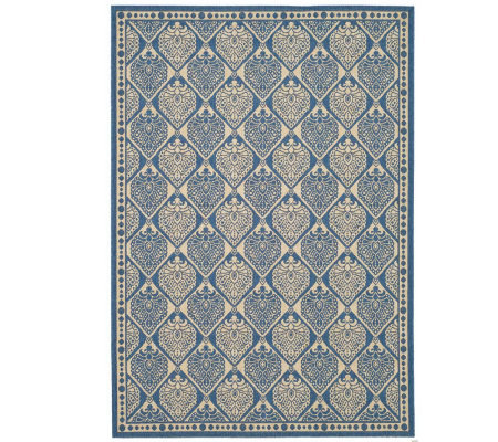 "Safavieh Courtyard Teardrop 5'3"" x 7'7"" Rug with Sisal Weave"