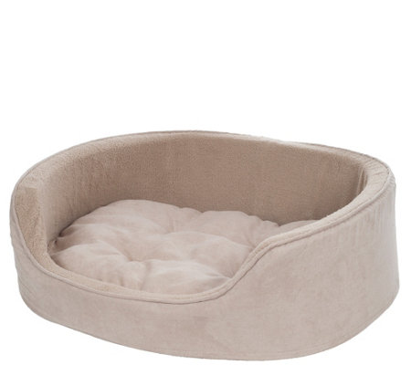 PETMAKER Large Cuddle Round Suede Terry Pet Bed
